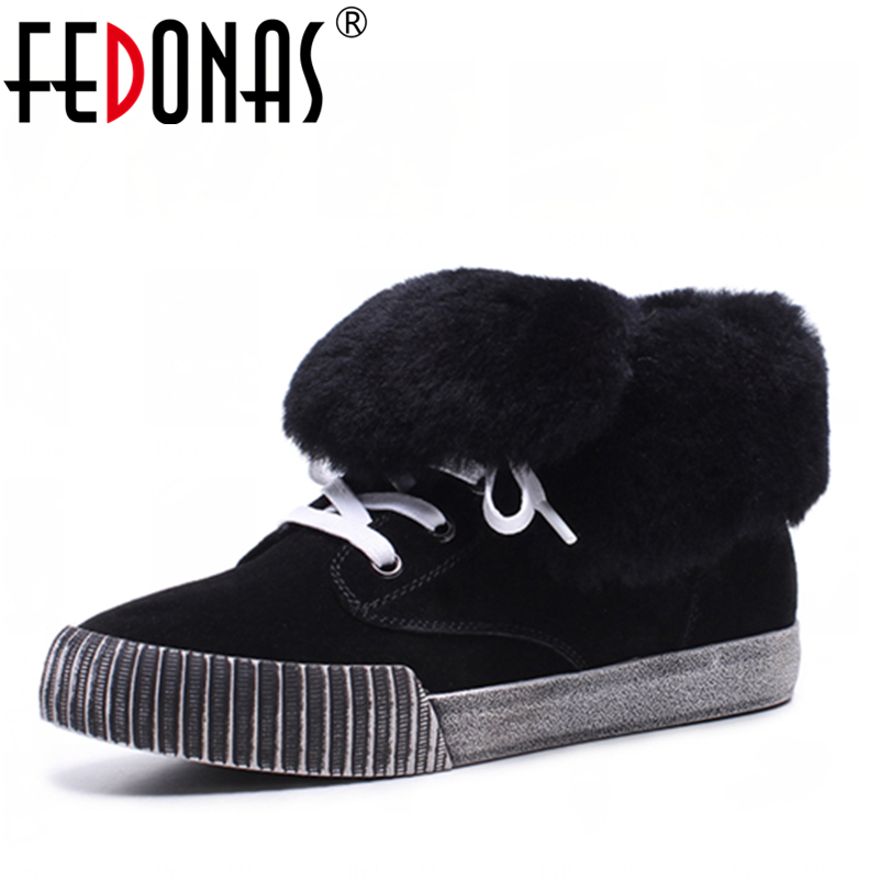 FEDONAS Women Suede Ankle Boot Wedges Heels Corss-tied Wool +Plush Winter Snow Boots Fashion Winter Martin Boots Shoes Woman 2017 cow suede genuine leather female boots all season winter short plush to keep warm ankle boot solid snow boot bota feminina