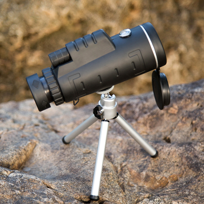 Boshile Hunting Camping 40X60 BAK4 Monocular Telescope HD Night Vision Prism Scope With Compass Phone