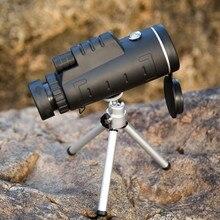 Boshile Охота Кемпинг 40X60 BAK4 Монокуляр телескоп HD Ночное видение Prism область с компасом Phone
