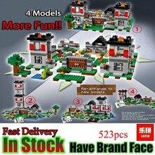 LEPIN Minecraft 523pcs Fortress village My world 4 Models Building Blocks Bricks Toys For Children Gift