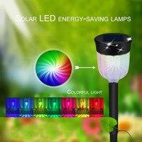 Waterproof Solar Panel LED Spike Light Landscape Spot Light Garden Yard Path Lawn Decor Outdoor Grounding Lighting