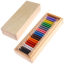 Montessori Sensorial Material Learning Color Tablet Box 1 2 3 Wood Preschool Toy