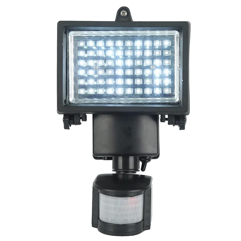 Oobest New Solar powered outdoor led Garden Lights 60 LEDs PIR Motion Sensor Solar Lamp Floodlights Spotlights Solar Lamp bulbs