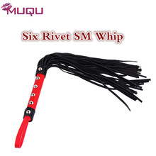 Six Rivets bdsm sex whip SM games spanking sex toys for couples erotic magic wand fetish