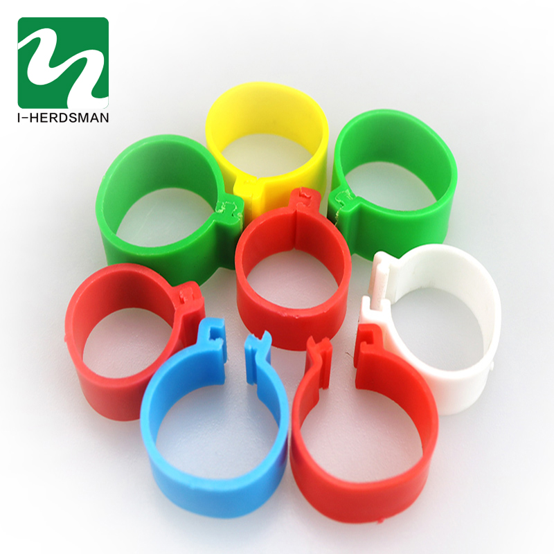 Red Adhere To Fly 100pcs Chicken Hen Pigeon Clip On Leg Ring Plastic Foot Rings Poultry Parrot Clip Rings Band