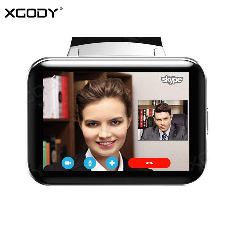 XGODY DW10 GPS Android Smart Watch Phone Support SIM Card Dual Core WiFi Pedometer Bluetooth Call