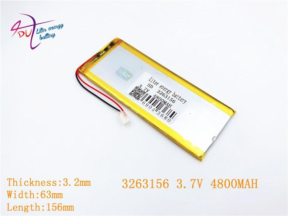 Liter Energie Batterie 3263156 3065155 3,7 V 4800 Mah Wiederaufladbare Li Polymer Li-ion Batterie Einfach Zu Verwenden Digital Batterien Batterien