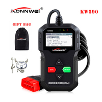 Best ODB OBD2 Car Diagnostic Scanner KONNWEI KW590 OBD2 Scanner Multi Languages OBD2 Autos Scanner