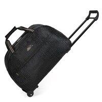 Mulheres à prova dwaterproof água saco de viagem de alta capacidade estilo grosso rolando mala trole bagagem senhora sacos de viagem com rodas|Bolsas para viagem| |  -