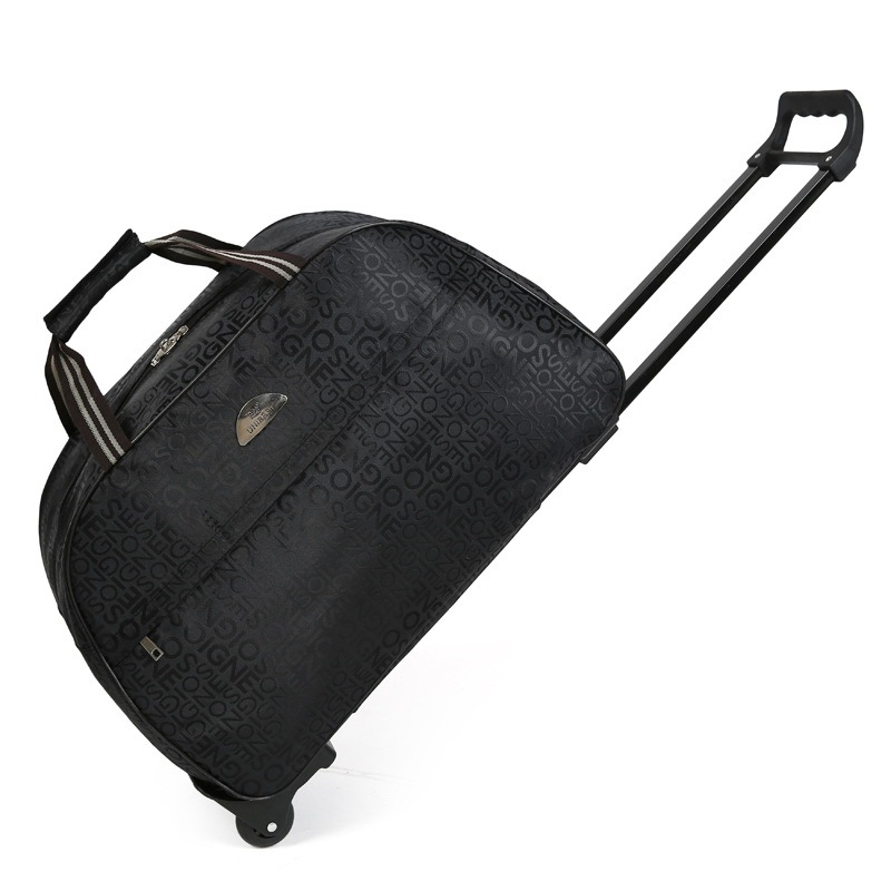 Women Waterproof High capacity Travel Bag Thick Style Rolling Suitcase Trolley