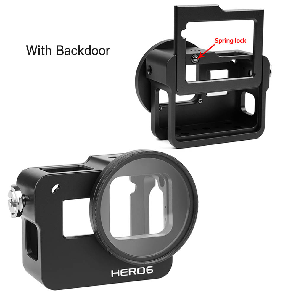 7 Silver //6//5 MEETBM ZIMO,Silicone Protective Case with Lens Cover for GoPro HERO7 Black //7 White Black Color : Red
