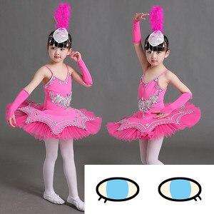 Image 3 - Professional Ballet Tutu Pancake Children White Swan Lake Ballet Costume KidsGirls Feather Ballerine Tutu Skirts
