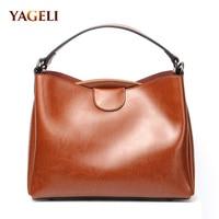 Genuine leather women's shoulder bags 2018 cow leather women handbags brand design lady shoulder messenger bags women INS HOT