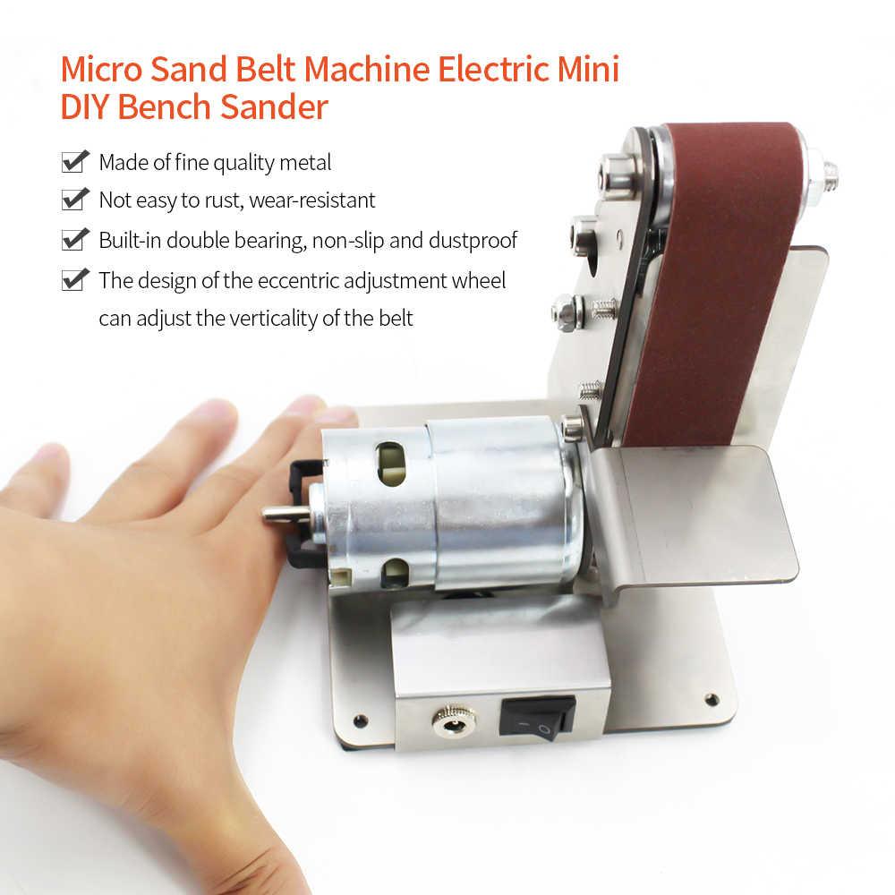 מקצועי חשמלי מיני אנכי חגורת סנדר מכונת DIY ליטוש מכונת קבוע-זווית מחדד שולחן חיתוך קצה מכונה