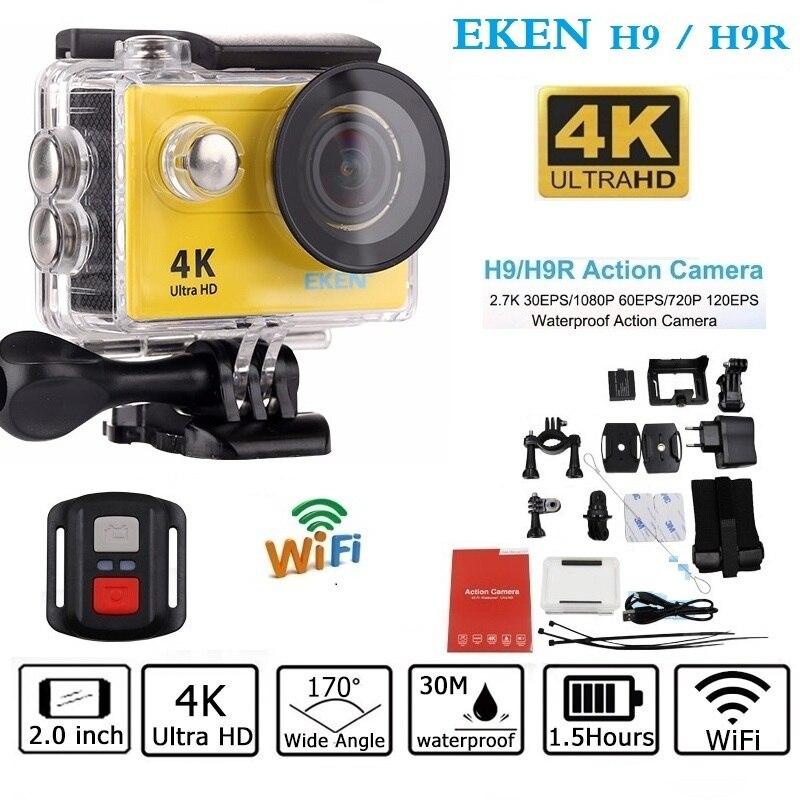 Оригинальный EKEN H9/h9r экшн-камеры удаленного Ultra HD 4 К Wi-Fi 1080 P/60fps 2.0 ЖК-дисплей 170d шлем CAM Go 30 м Водонепроницаемый Pro камеры