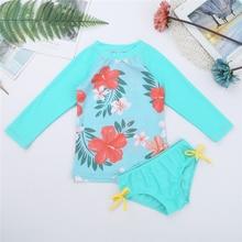 Kids Baby Girls Clothes Sets Flower Printed Swimwear