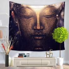 Home Decorative Wall Hanging Carpet Tapestry 130x150cm Rectangle Bedspread Buddhism Buddha statue Pattern GT1084