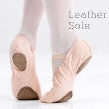 Canvas Cotton Ballet Shoes Soft Suede Flats Dance Girls Children Kids Women Gymnastics Yogo Slippers