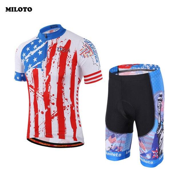 MILOTO USA Mens Ropa Ciclismo Sport Cycling Jersey Top Shirt Bicycle Wear  Clothing Short Sleeve Bib ca879c87d