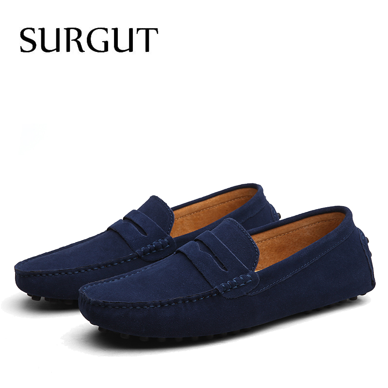 SUGRUT Brand Summer High Quality Soft Flat Shoes Male Casual Driving Shoes Slip On Lazy Men Flats Moccasins Loafers Size 38~50 5
