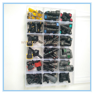 Image 4 - High quality one set SAE Fuel Urea pipe tube fittings auto Fuel line quick connector kit whole set total 80pcs for car