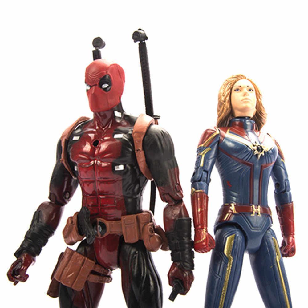 Endgame Capitão Marvel Avengers Capitão América Spiderman Doutor Estranho Deadpool Marvel Action Figure Toy Presente Boneca 5 pçs/set PG
