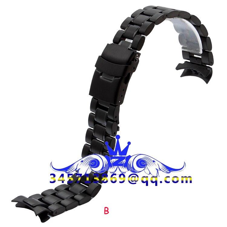 18 20 22 24mm hõbe must, kõver suu ja sirge suu, roostevabast - Kellade tarvikud - Foto 2