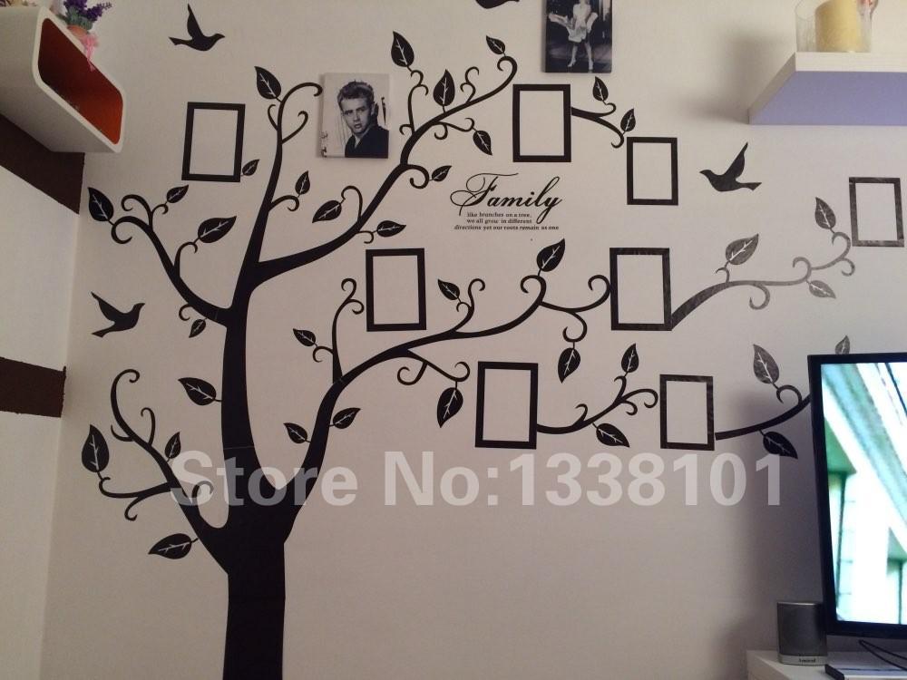 HTB1PTgXKXXXXXb4XXXXq6xXFXXX6 - Free Shipping:Large 200*250Cm/79*99in Black 3D DIY Photo Tree PVC Wall Decals/Adhesive Family Wall Stickers Mural Art Home Decor