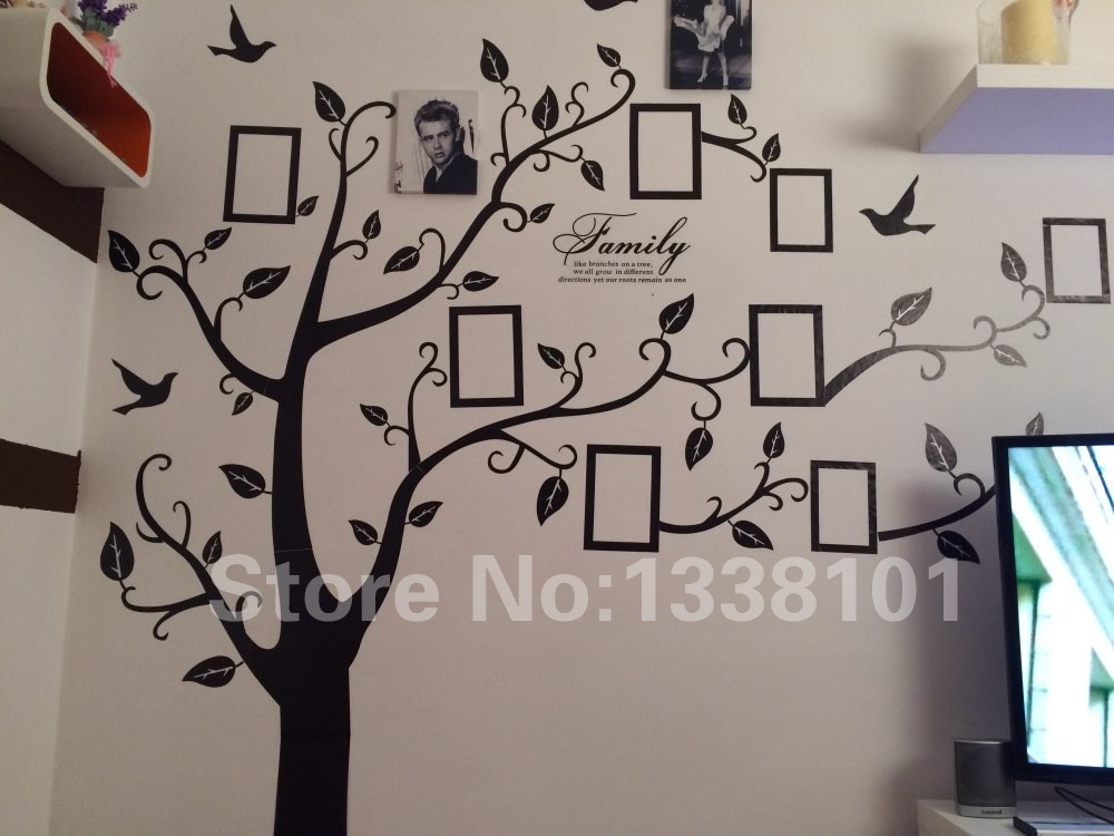 DIY Photo Tree PVC Wall Decals / Adhesive Family Wall Stickers 12