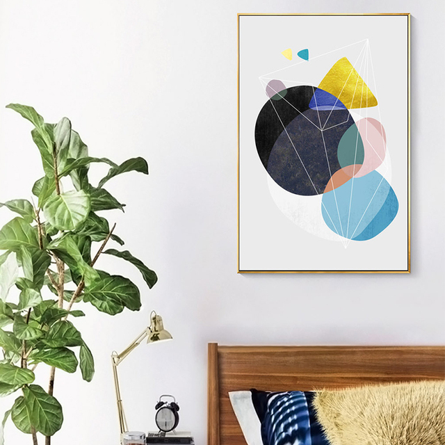 Nordic Poster Abstract Geometry Wall Art  1