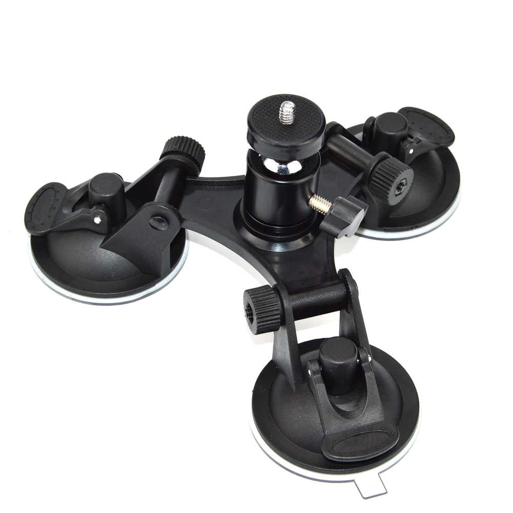 Easttowest Rotation Ball Head Mount Triple Sucker Suction Cup Stand for Go Pro hero 6 5 4 3+ Xiaomi yi Sj4000 Action Camera