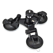 Easttowest Rotation Ball Head Mount Triple Sucker Suction Cup Stand for Gopro hero 5 4 3+ Xiaomi yi Sj4000 Action Camera