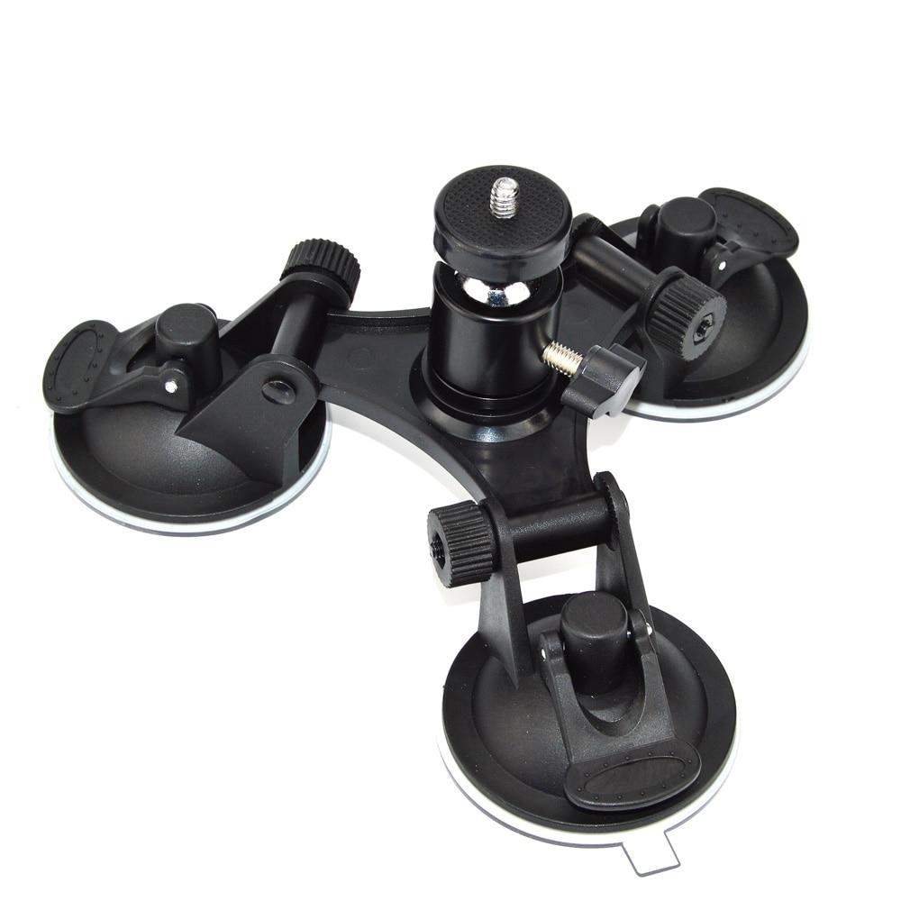 Prix pour Easttowest Rotation Rotule Mont Triple Ventouse Ventouse Stand pour Gopro hero 5 4 3 + Xiaomi yi Sj4000 D'action caméra