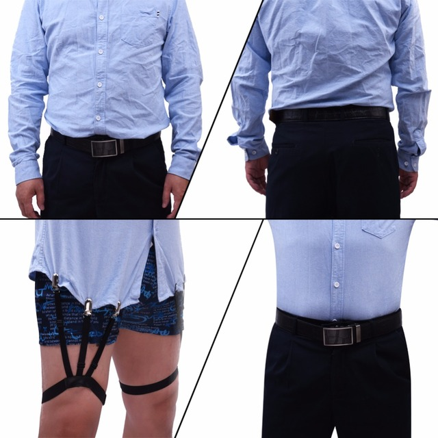 Men Thigh Belt Garter Keep Shirt Tucked