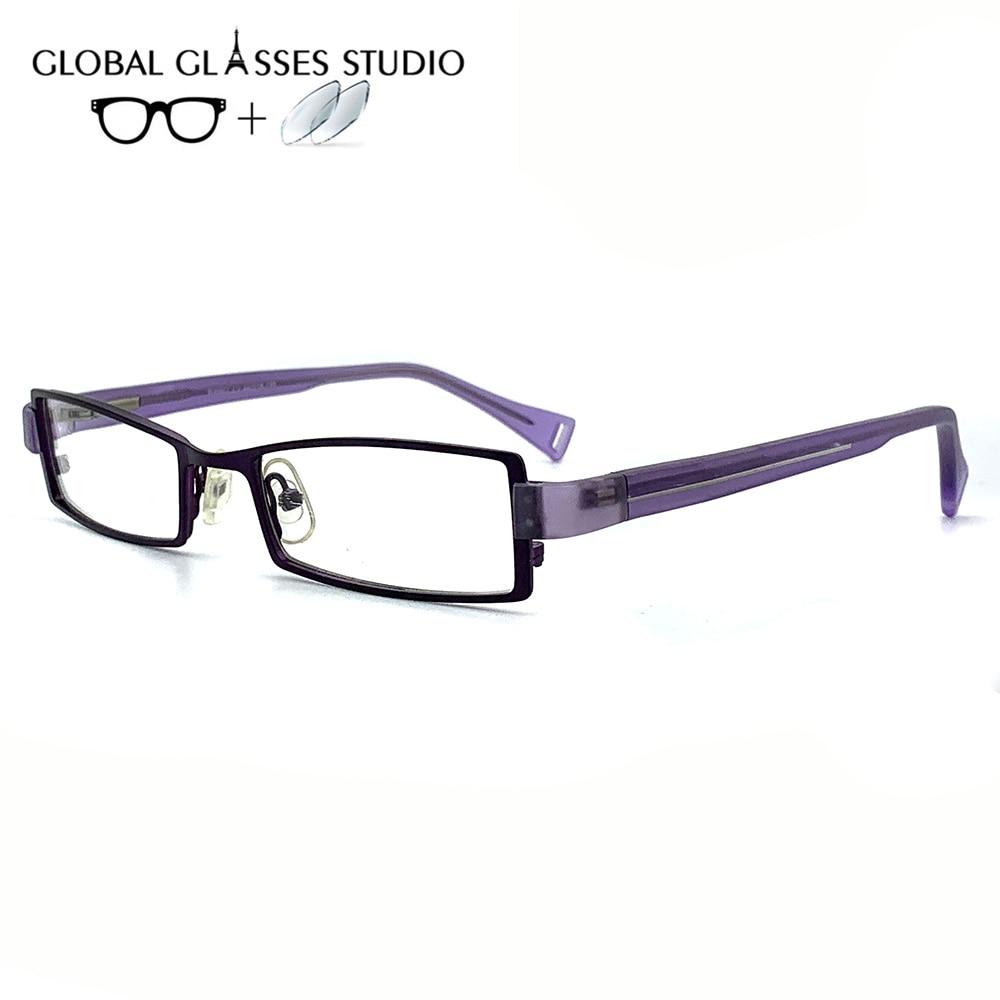 Женские металлические очки оправа Очки для чтения от близорукости, по рецепту линзы 1,56 индекс WW807 C2