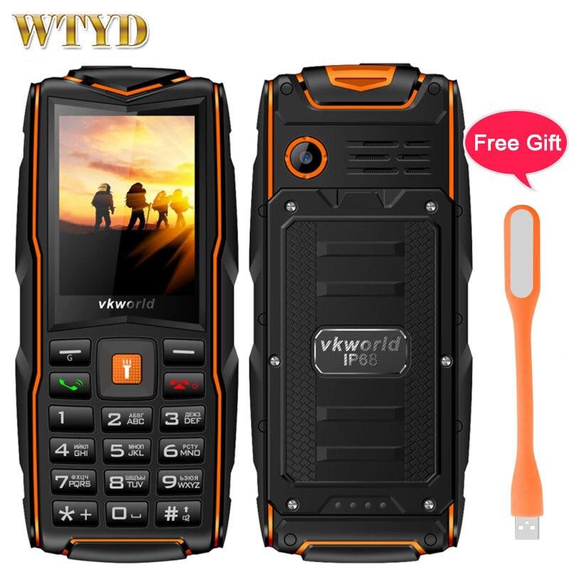 Russian Keyboard Vkworld New Stone V3 Triple Sim Mobile phone Waterproof IP68 2 4 inch SC6531CA