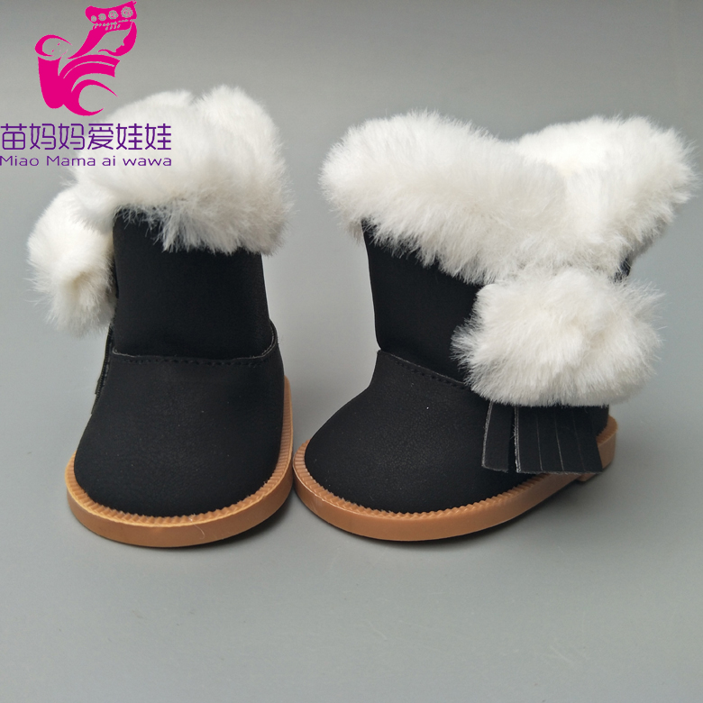 18 inch American Girls Dolls Snow Boots shoes for Zapf baby born dolls winter shoes toys accessory girl gifts