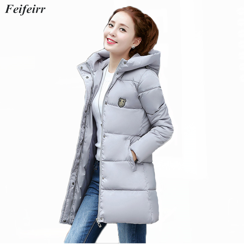2018 New Fashion Women Winter hooded warm coat plus size 3XL Long Thicken Down Cotton Padded Jacket Outwear   Parkas   feminina