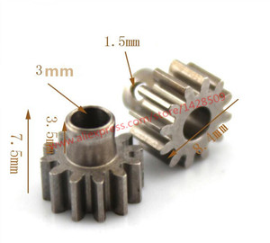 2pcs M0.6 shaft gear 3mm 12T Module Pinion Motor Gear for RC Buggy Monster Truck Brushed Brushless Motor(China)