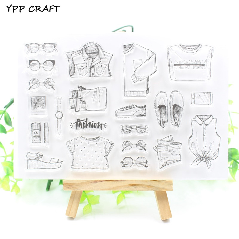 YPP CRAFT Fashion Transparent Clear Silicone Stamps for DIY Scrapbooking/Card Making/Kids Fun Decoration Supply