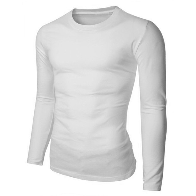 T Shirt Men Brand 2018 Simple Design Men's Crewneck Plain Tops ...