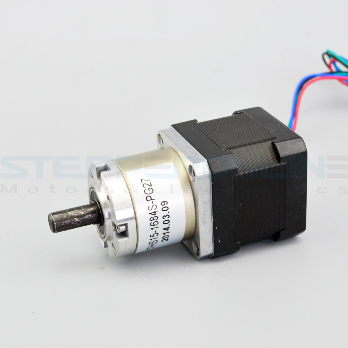 1.68A Gear ratio 27:1 Planetary Gearbox stepper motor Nema 17 Planetary geared stepper 3d printer motor 17HS15-1684S-PG27 gear ratio 5 1 planetary gearbox stepper motor nema 17 1 68a geared stepper motor 3d printer stepper motor 17hs19 1684s pg5