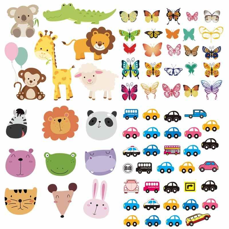 Набор пластырей на одежде Милые Животные Автомобили Diy Новые дизайнерские значки патчи для детей аксессуары для одежды теплопередачи Z-02