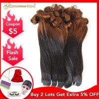 Peruvian Bouncy Curly Human Hair Double Drawn 3 Bundles Fumi Funmi Curl Remy Hair Extension For Black Women Free Shipping 1b/30