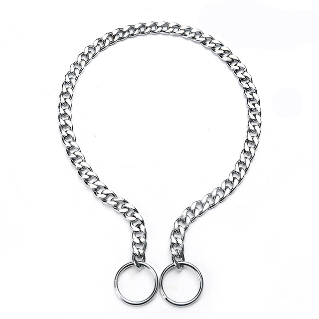 Stainless Steel Dog Collar Accessories Traction P Chain Adjustable Pinch Pet Dog Collars for Small Large Dogs Necklace XS-XL