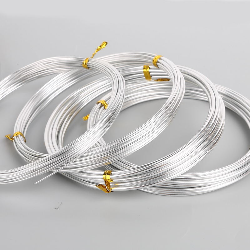 Wire Bracelets With Charms 2: Silver Color Aluminum Wire 1mm 1.5mm 2mm 2.5mm 5mm Soft
