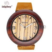 IBigboy Relojes Royal Zebrawood Madera de Sándalo de Palo de rosa De Madera Relojes de Los Hombres Relojes de Las Mujeres Reloj de Pulsera IB-1605Da