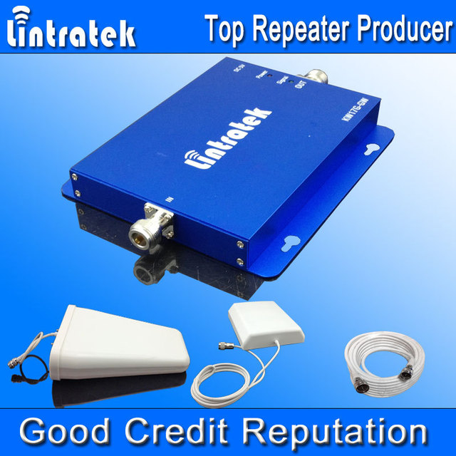 Sinalização Lintratek GSM 900 2100 Repetidor Móvel GSM 900 UMTS 2100 3G Amplificador GSM 3G Dual Band Sinal Booster Full Set S31