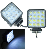 2PCS High Power IP67 Waterproof 48w Square DC Led Work Light 12vOffroad 4x4 Led Driving Light