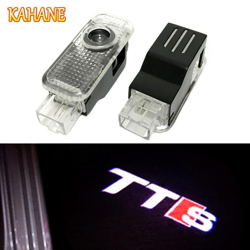 Кахане 2x свет двери автомобиля Лазерная Призрак проектор свет TTS логотип для Audi A3 <font><b>A4</b></font> A5 A6 A8 B5 b6 B7 <font><b>B8</b></font> C5 C6 S3 S4 S5 S6 RS3 RS4